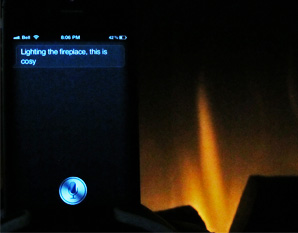 Siri Lighting the Fireplace